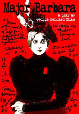 Theatre Digital Art - Poster For Major Barbara by H James Hoff