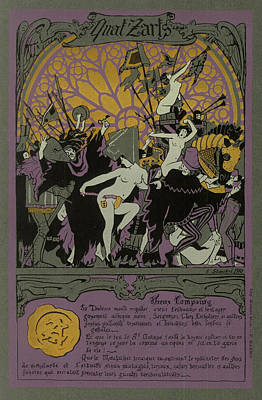 Orgy Painting - Poster For The 1910 Ecole Nationale Superieure Des Beaux-arts Paris Annual Ball by Unknown