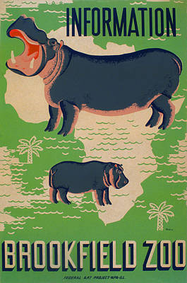 Poster For The Brookfield Zoo, Showing Art Print by Everett
