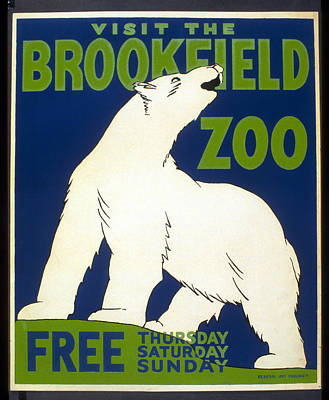 Poster For The Brookfield Zoo Art Print by Unknown