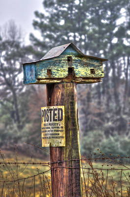 Photograph - Poster Keep Out Bird House by Reid Callaway