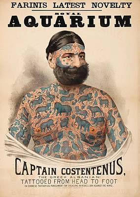 Painting - Poster Of Captain Costentenus Tattooed From Head To Foot by Unknown