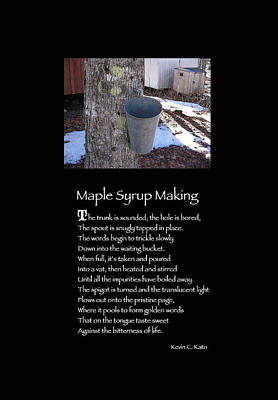 Poster Poem - Maple Syrup Making Art Print by Poetic Expressions