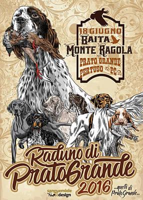 Trial Mixed Media - poster Prato Grande 2016 by Sanguemiele Design