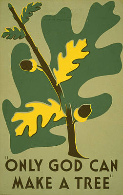 Poster Promoting Trees As A Natural Art Print