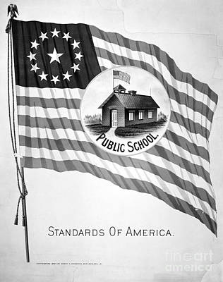 Photograph - Poster: Public School by Granger
