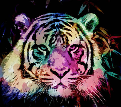 Photograph - Poster Tiger by Steve McKinzie