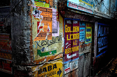 Photograph - Poster Wall by M G Whittingham