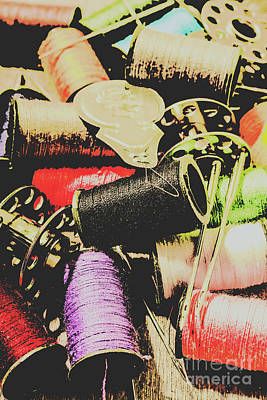 Pop Art Royalty-Free and Rights-Managed Images - Posterized dressmaking by Jorgo Photography - Wall Art Gallery