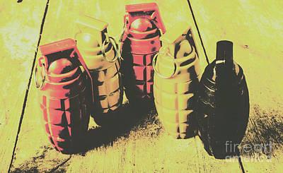 Bomb Photograph - Posterized Granade Art by Jorgo Photography - Wall Art Gallery