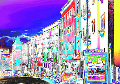 Photograph - Posterized Palette Of Lisbon by Lorraine Devon Wilke