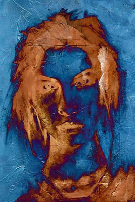 Digital Art - Posterized Portrait by Andrea Barbieri