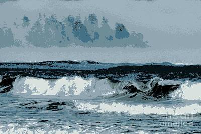 Photograph - Posterized Waves by Frank Townsley
