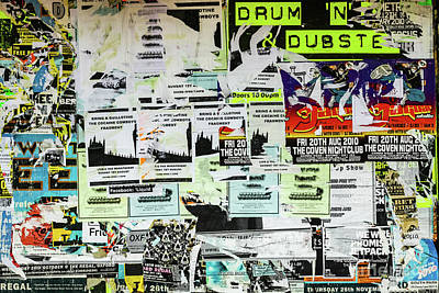 Photograph - Posters On Wall, Oxford, England, Uk by Tom Rydel