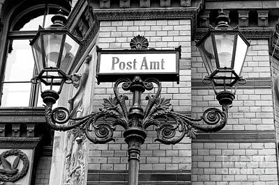 Photograph - Postfuhramt Street Lights by John Rizzuto