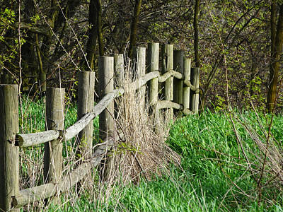 Photograph - Posts And Rails by Jacqueline  DiAnne Wasson