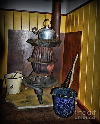 Antique Wood Burning Stove Photograph - Pot Belly Stove  by Paul Ward