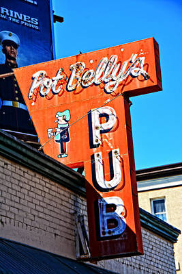 Photograph - Pot Belly's Pub Sign by Mike Martin