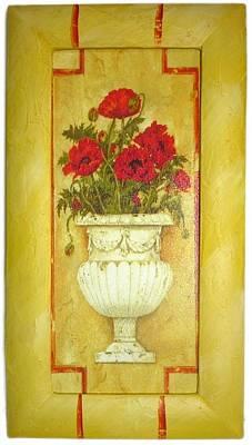 Pot Carnations Art Print by The Art Markets