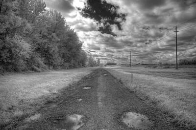 Gravel Road Photograph - Pot Hole by Jane Linders
