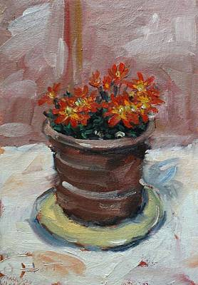 Painting - Pot Of Bee Dance Flowers by Owen Hunt