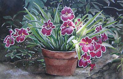 Painting - Pot Of Flowers by Jean Sumption