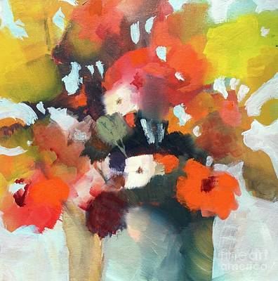 Pot Of Flowers Art Print