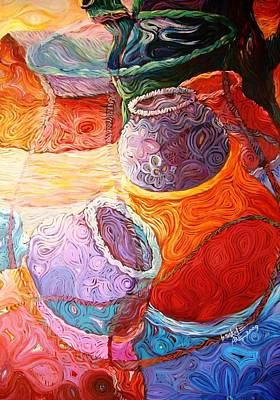 Painting - Pot Of Life by Bankole Abe