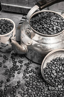 Pot Of Old Coffee Beans Print by Jorgo Photography - Wall Art Gallery