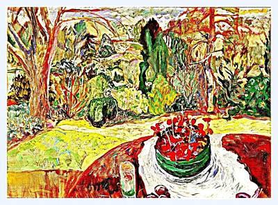 Pot Of  Red Cloverleaf  Art Print