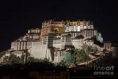 Photograph - Potala Palace At Night by Hitendra SINKAR