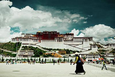 Roadblock Photograph - Potala Palace. Lhasa, Tibet. Yantra.lv by Raimond Klavins