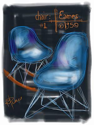 Eames Design Digital Art - Potato Chip Chair by Russell Pierce