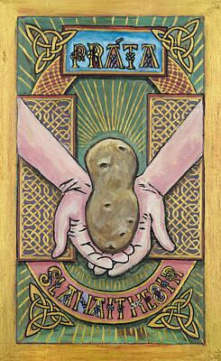 Potato Savior  Prata Slanaitheoir Art Print by Pegeen  Shean