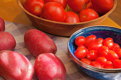 Photograph - Potatoes And Tomatoes Still Life by Sherri Meyer