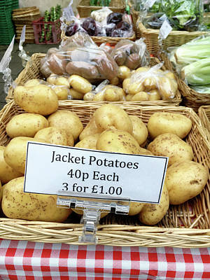 Local Food Photograph - Potatoes At The Market  by Tom Gowanlock
