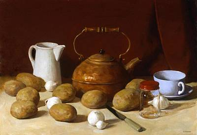 Painting - Potatoes, Mostly by Robert Holden