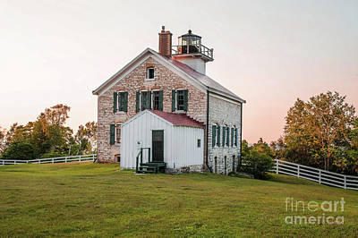 Nikki Vig Royalty-Free and Rights-Managed Images - Pottawatomie Lighthouse - Rock Island, Door County, WI by Nikki Vig
