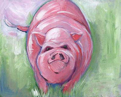 Potbelly Pig Painting - Potbelly by Anne Seay