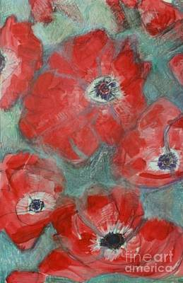 Painting - Potent Poppies by Diane montana Jansson