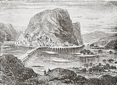 White River Scene Drawing - Potomac And Shenandoah At Harper S by Vintage Design Pics