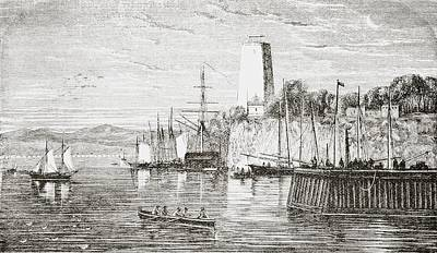 White River Scene Drawing - Potomac At Washington America From The by Vintage Design Pics