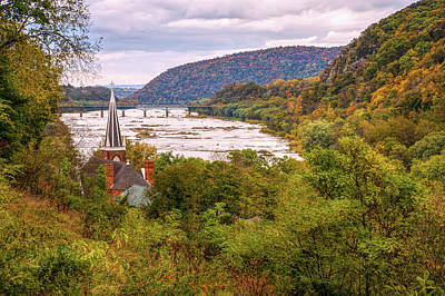 Photograph - Potomac From Harpers Ferry by John M Bailey