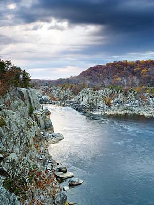 Great Falls Park Photograph - Potomac River From Great Falls Park Virginia by Brendan Reals