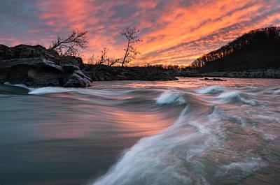 Northern Virginia Photograph - Potomac River Mather Gorge Sunrise by Mark VanDyke