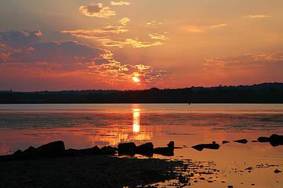 Potomac River Sunrise I  Art Print by Steven Ainsworth