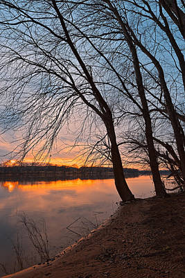 Photograph - Potomac Sunset 2 by Nicolas Raymond