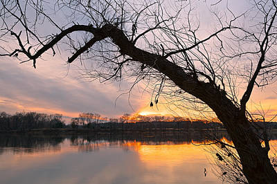 Photograph - Potomac Sunset 3 by Nicolas Raymond