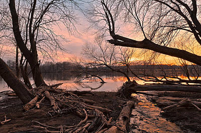 Photograph - Potomac Sunset 4 by Nicolas Raymond