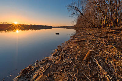 Photograph - Potomac Sunset by Nicolas Raymond
